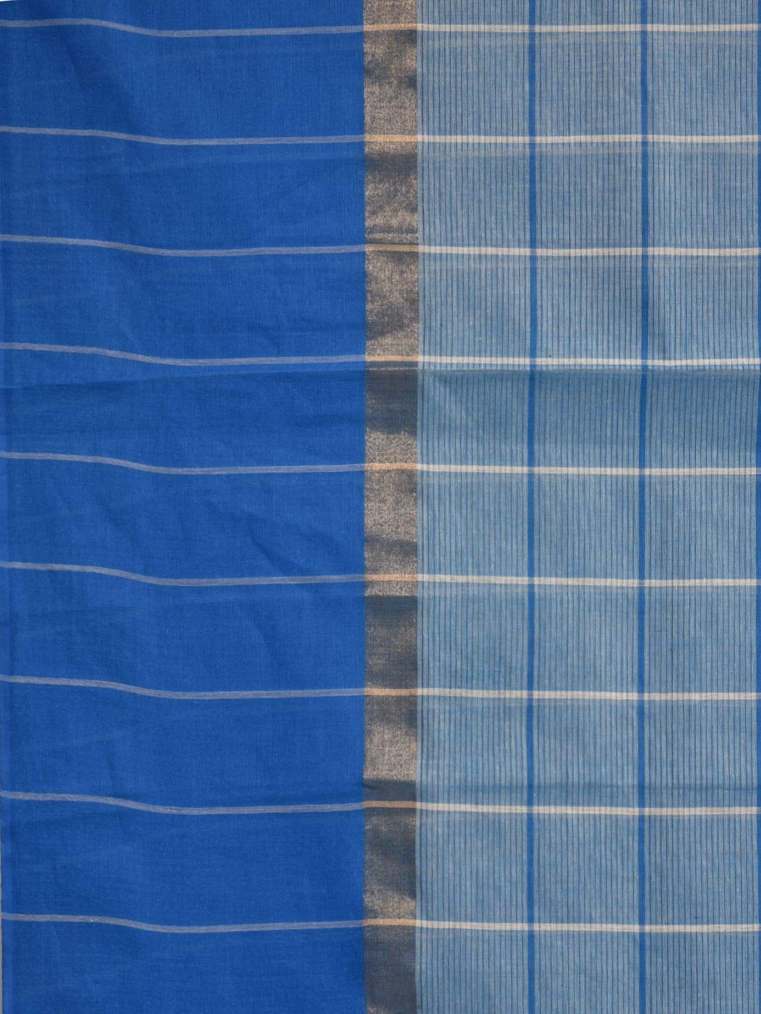Blue Venkatagiri Cotton Handloom Saree with Checks Design V0065
