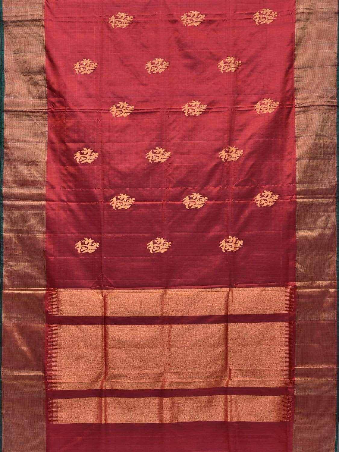 Brown Uppada Silk Handloom Saree with Nilambari Buta Design u1609