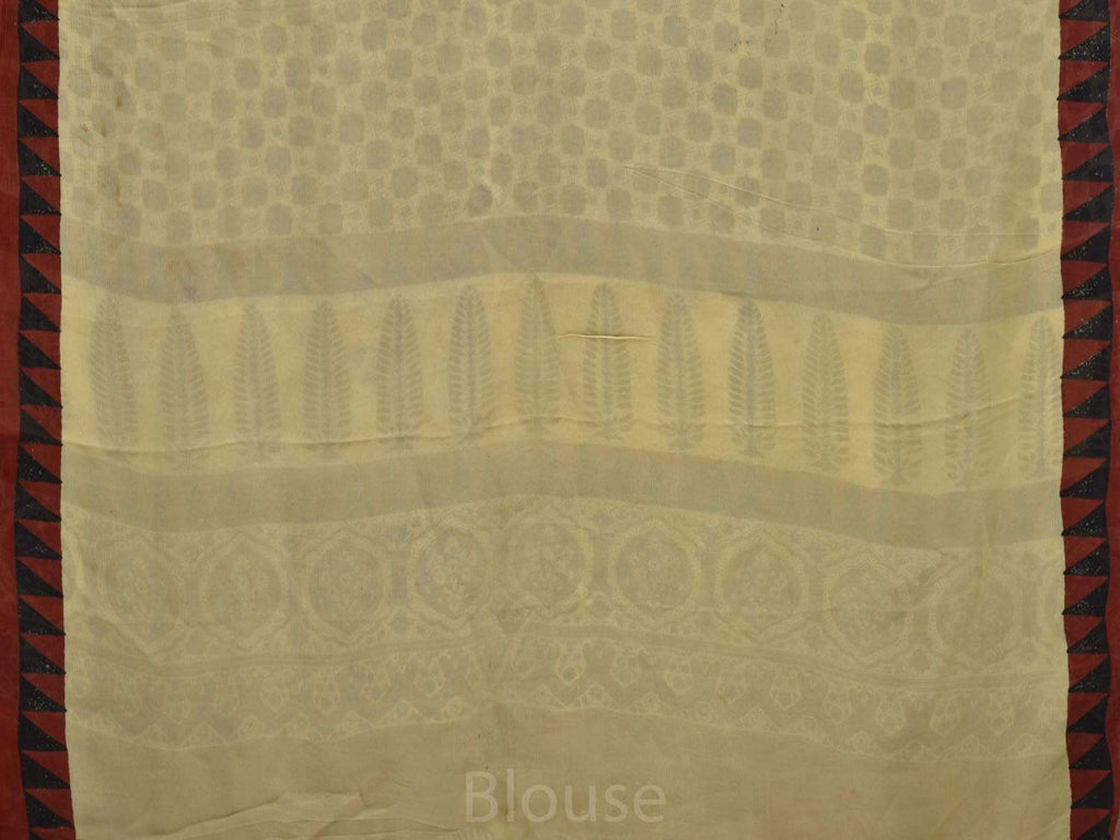 Cream Digital Print Georgette All Over Design o0265