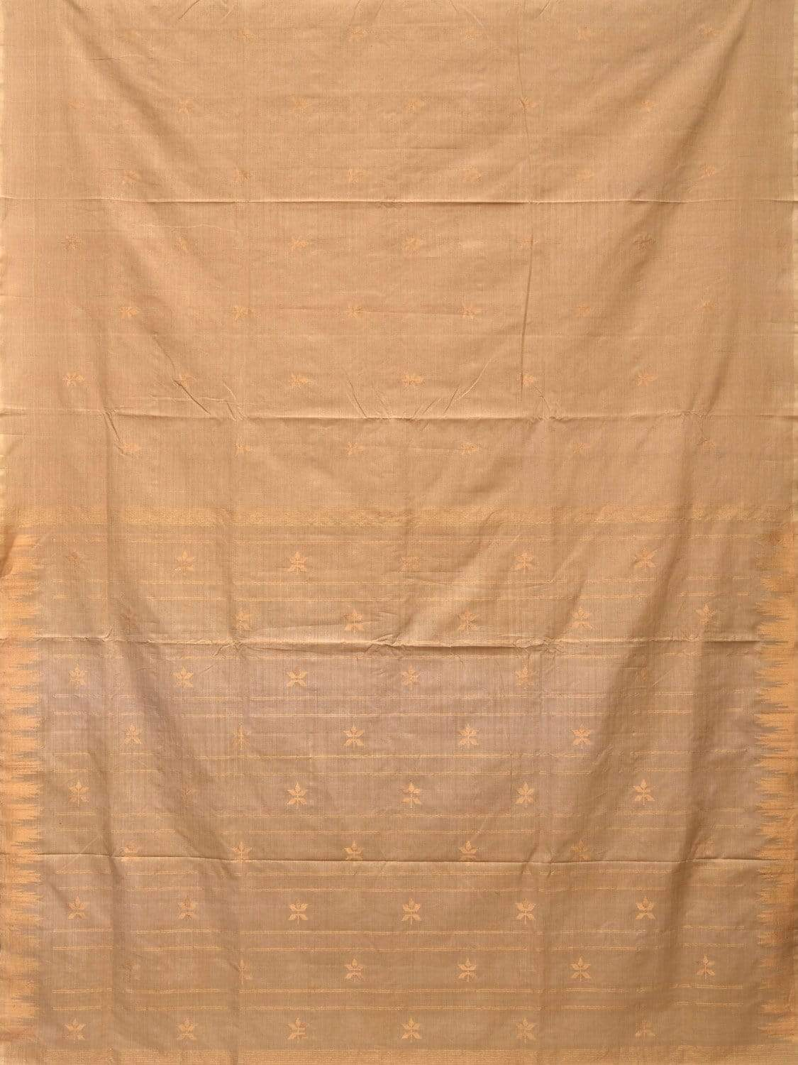 Cream Khadi Cotton Handloom Saree with Jamdani Buta Design kh0475