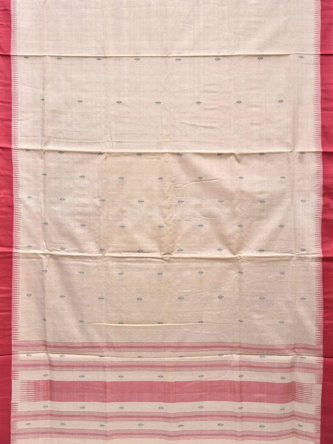 Cream Khadi Silk Handloom Saree with Small Body Buta Design kh0486