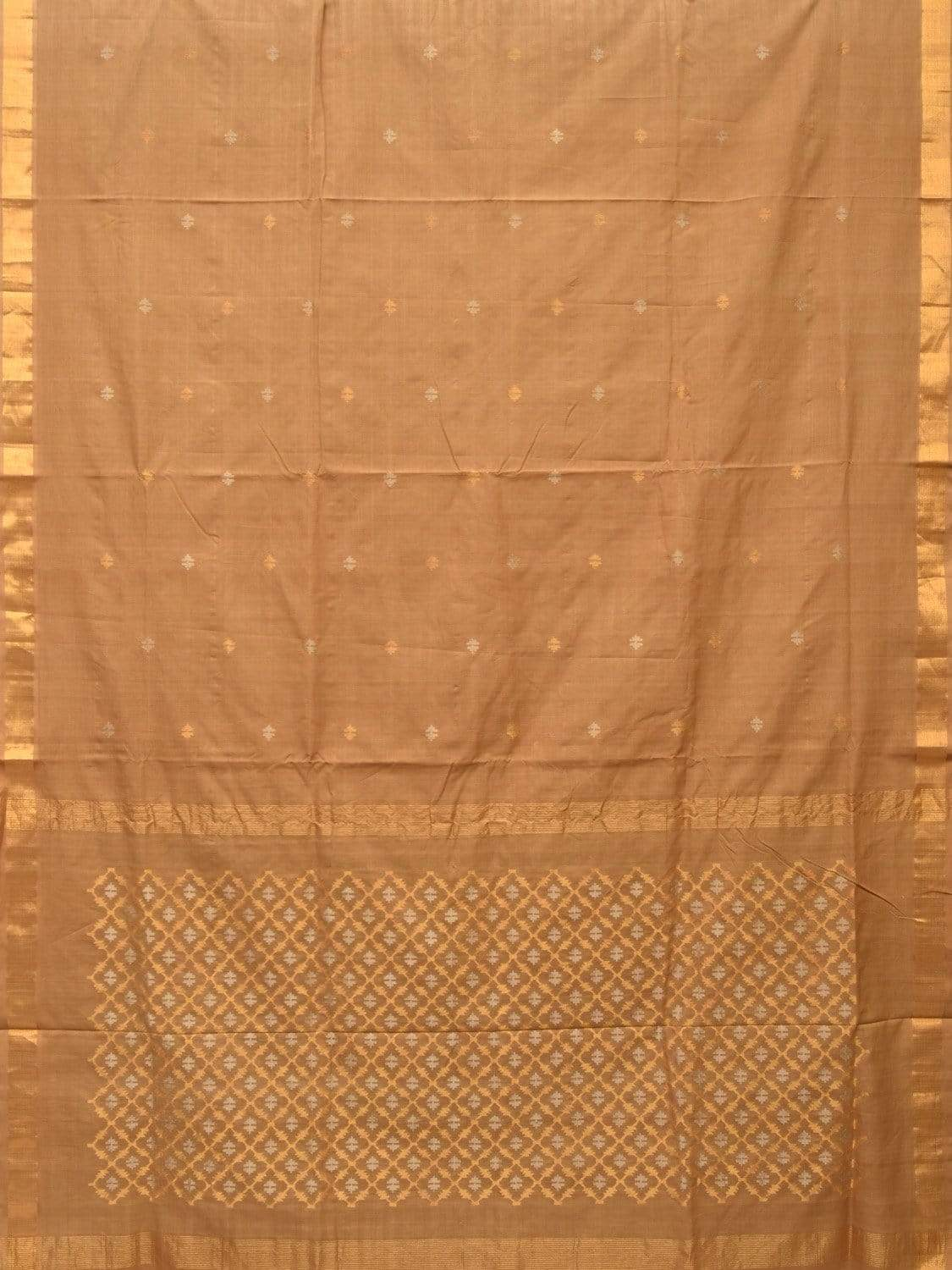 Cream Uppada Cotton Handloom Saree with Jamdani Pallu Design u1643