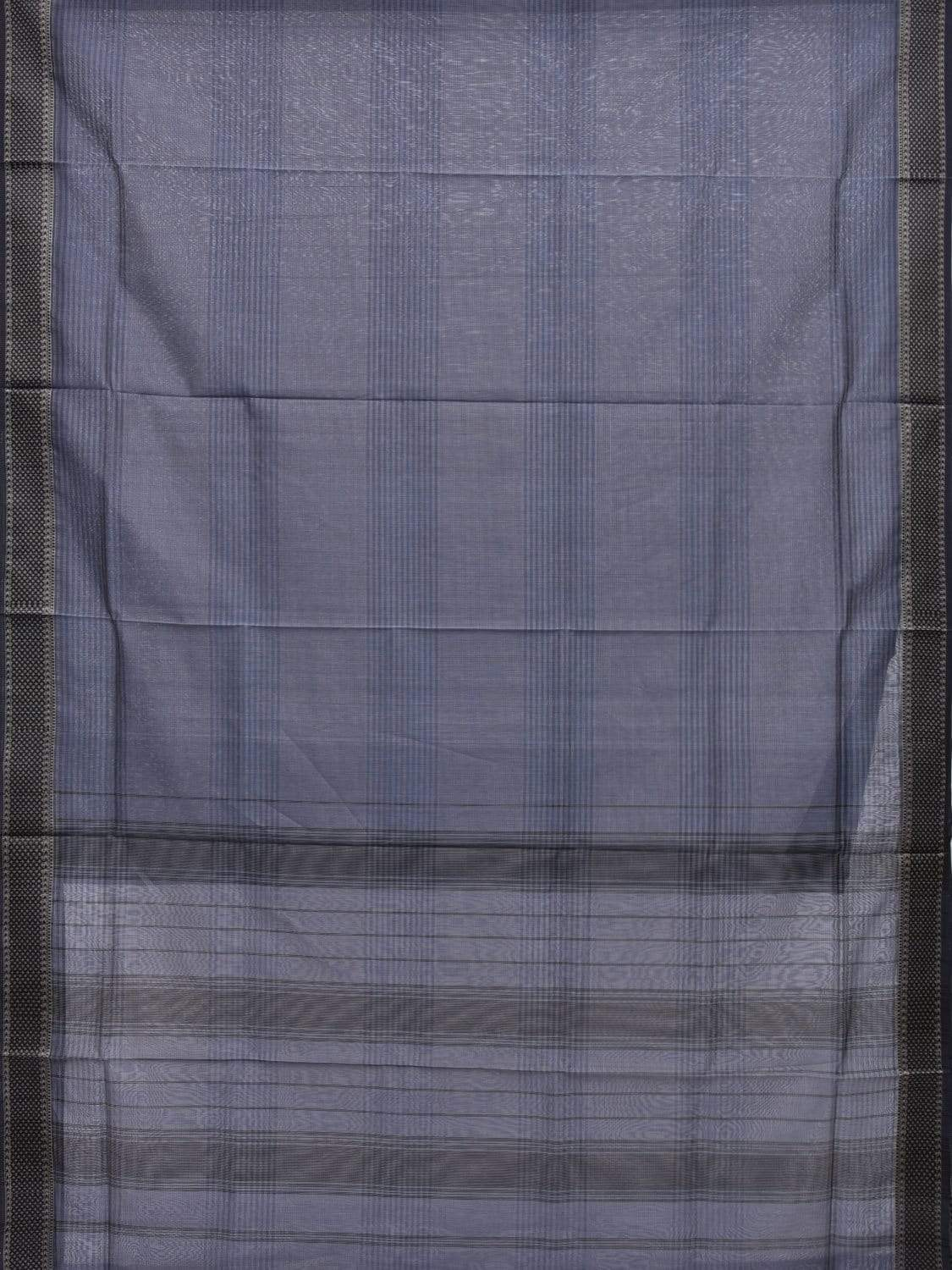 Dark Blue Maheshwari Cotton Silk Handloom Saree with Strips Design m0121