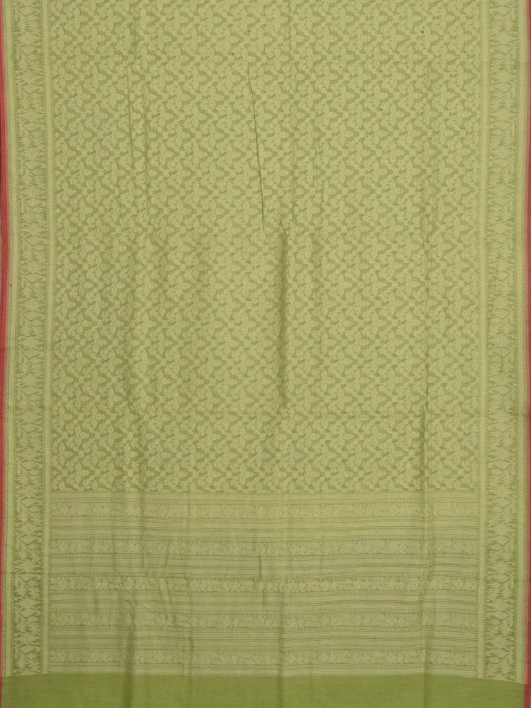 Green Banaras Cotton Handloom Saree with Cut Work Design b0258