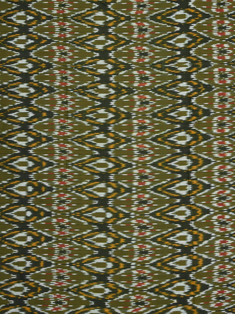 Green Ikat Cotton Handloom Fabric F0095