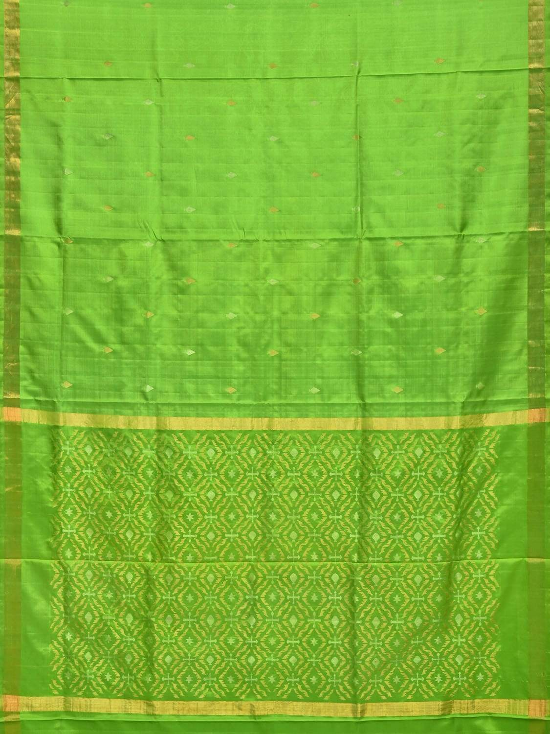 Green Uppada Silk Handloom Saree with Jamdani Pallu Design u1586