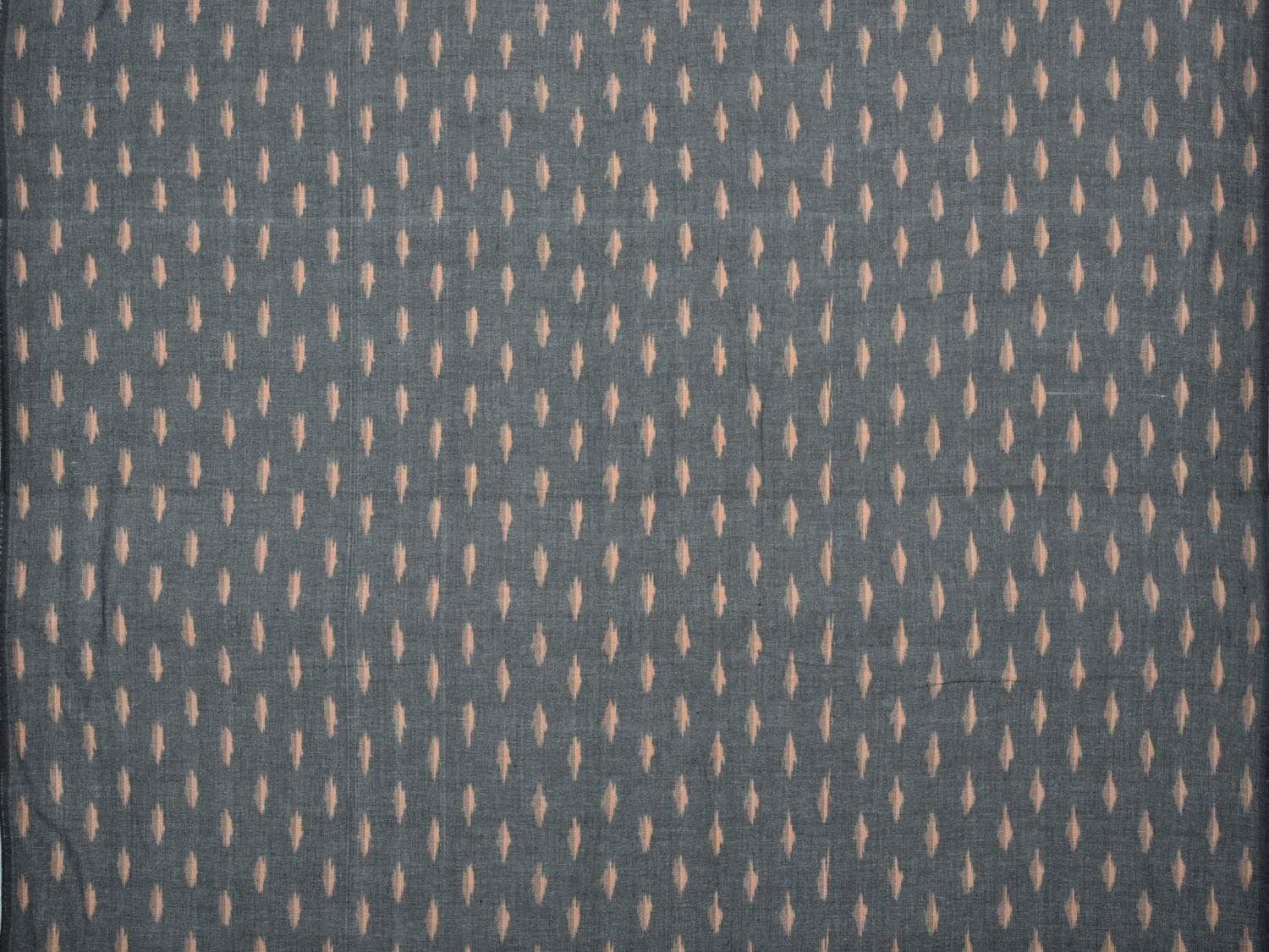 Grey Pochampally Ikat Cotton Handloom Fabric Material with Buta Design f0144