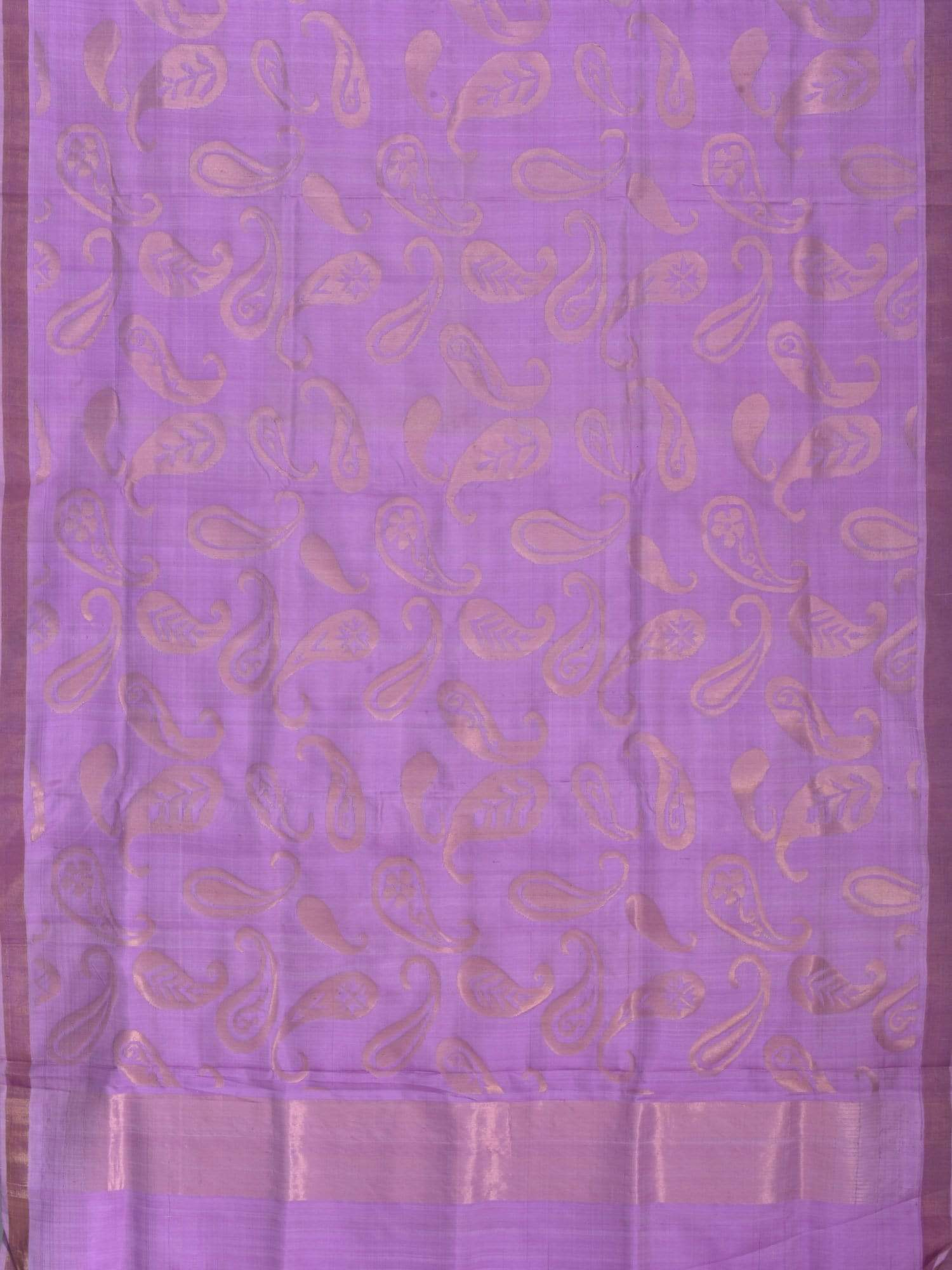 Lavender Uppada Silk Handloom Saree with All Over Mango Design U1347