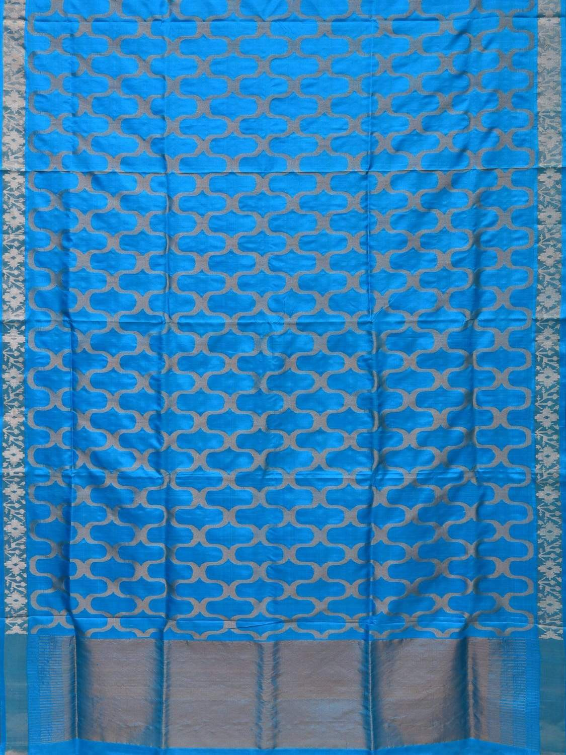 Light Blue Uppada Silk Handloom Saree with All Over Grill Design u1652