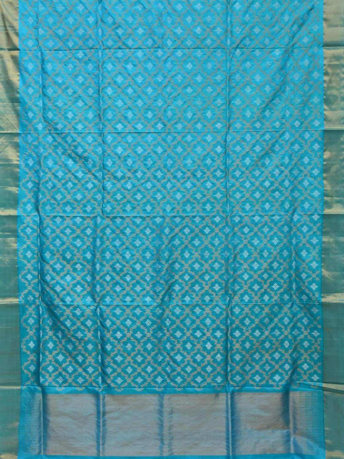 Light Blue Uppada Silk Handloom Saree with All Over Jamdani Design u1656
