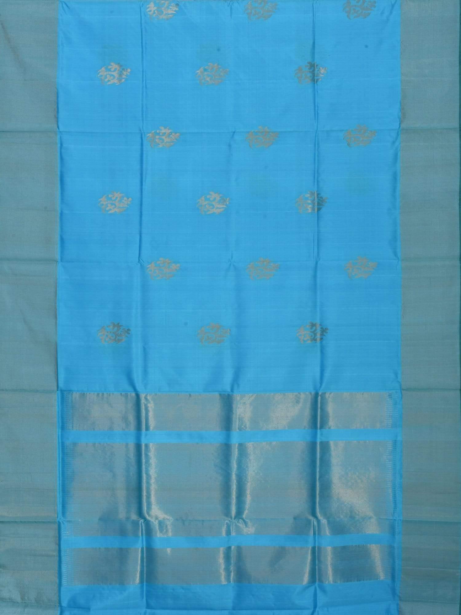 Light Blue Uppada Silk Handloom Saree with Nilambari Buta Design U1365