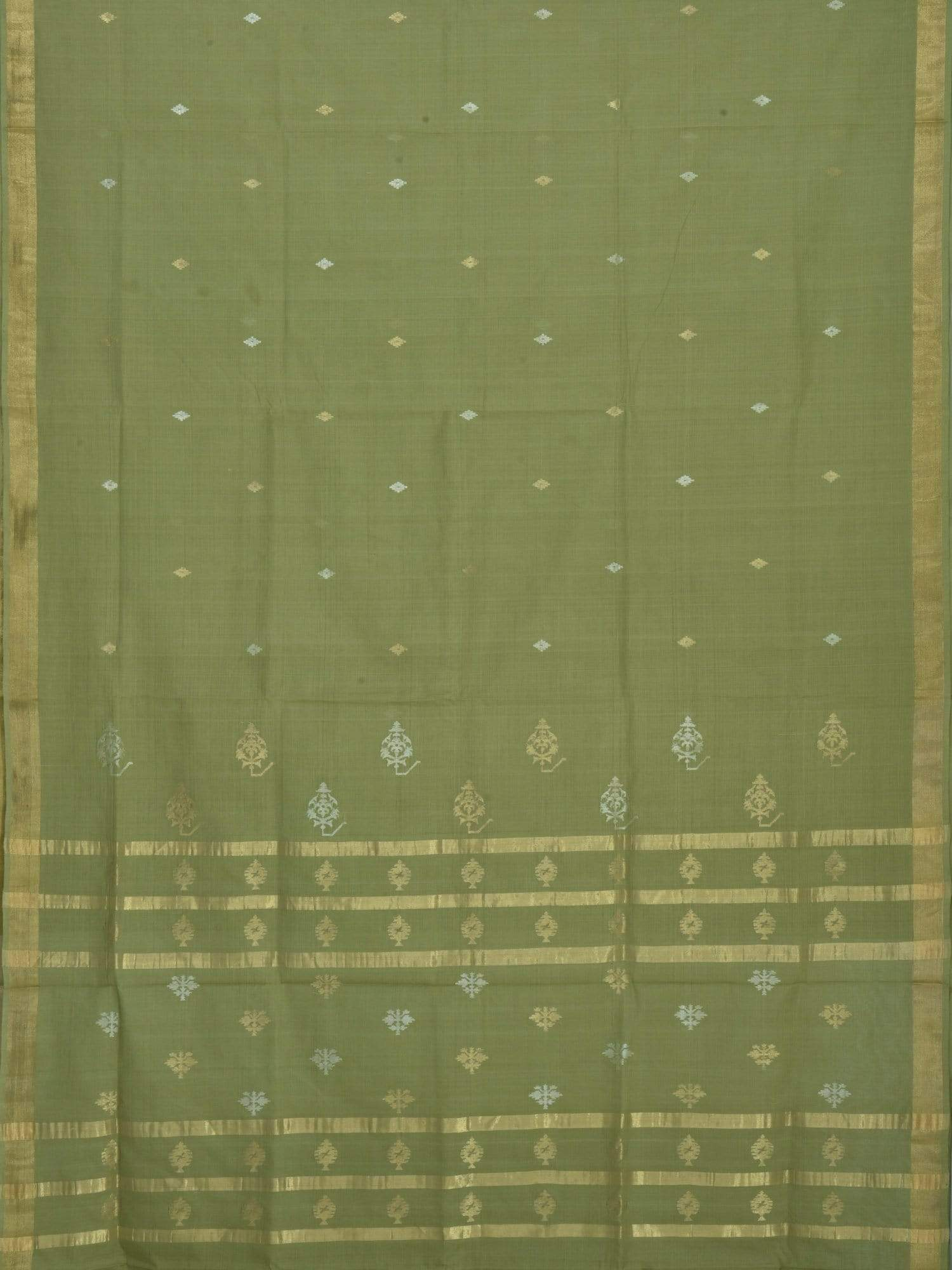 Light Green Uppada Cotton Handloom Saree with Pallu Design u1381
