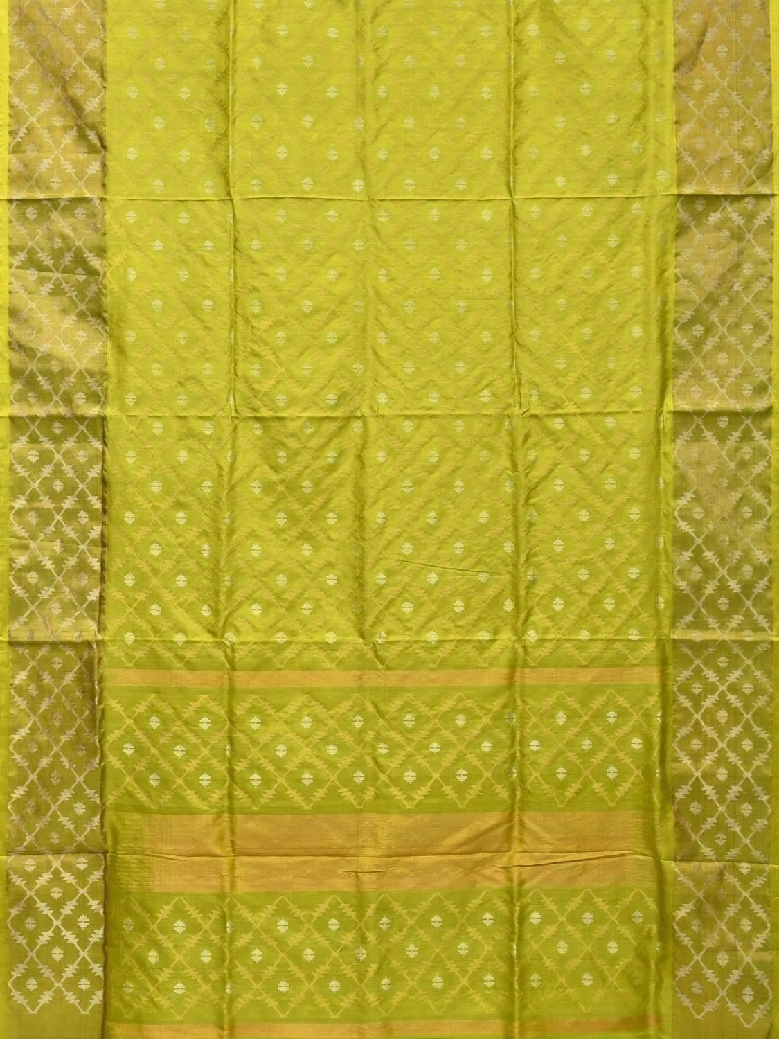 Light Green Uppada Silk Handloom Saree with All Over Jamdani Design u1653