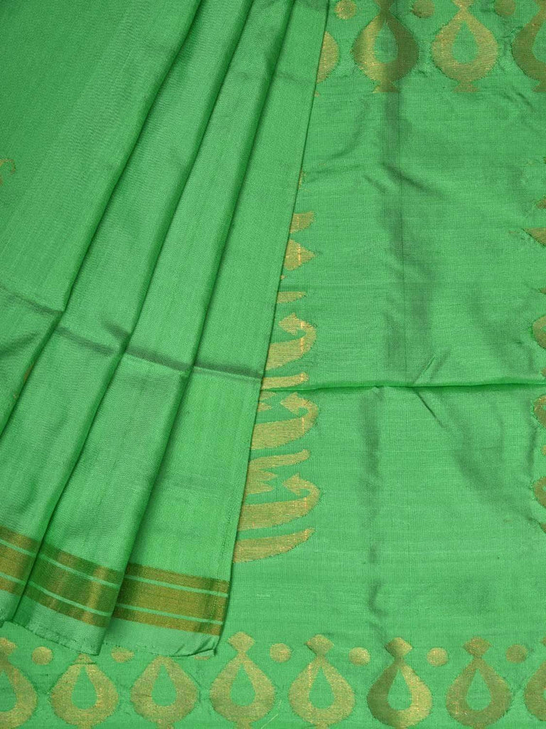 Light Green Uppada Silk Handloom Saree with Karpur Pallu Design u1712