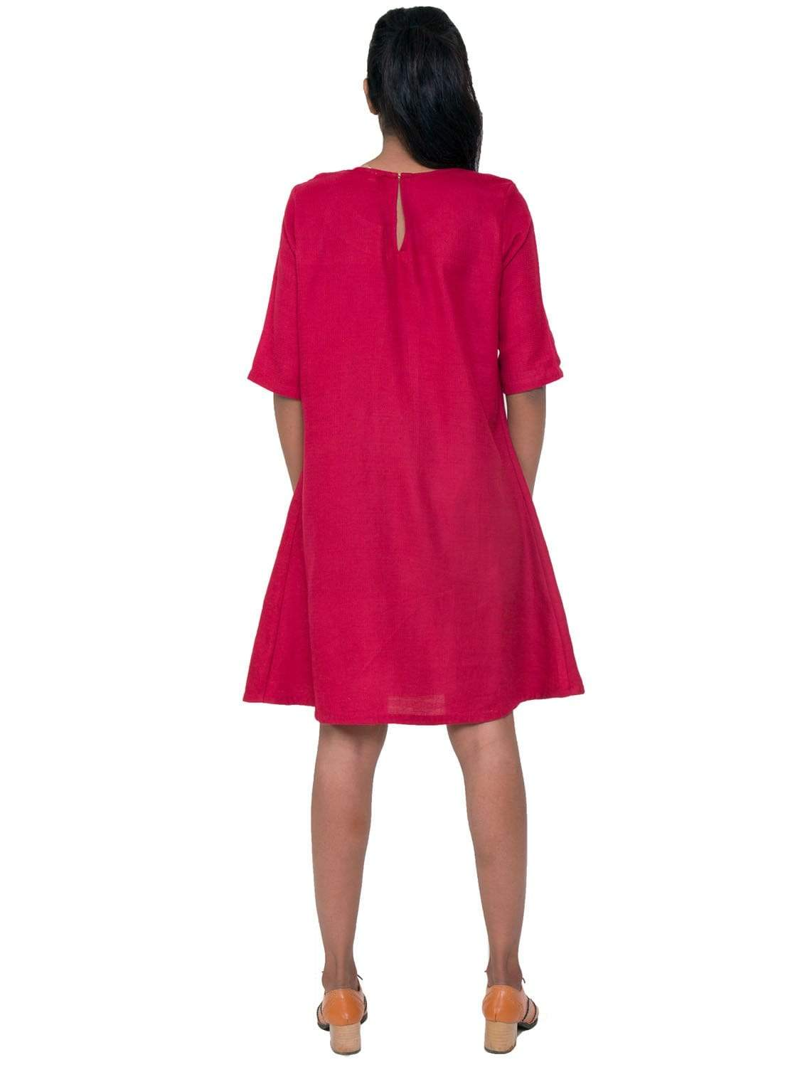 Magenta PikaLove Organic Cotton Skater Dress UNC-MB-SD-002