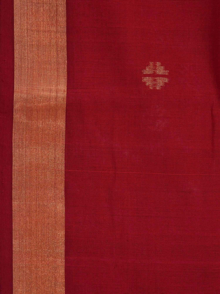 Maroon Khadi Cotton Handloom Saree with Small Buta Design kh0270