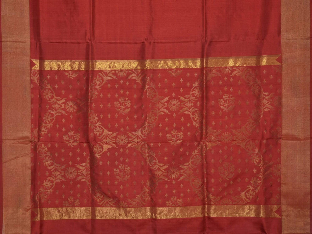 Maroon Uppada Silk Handloom Saree with Jamdani Pallu Design U1435