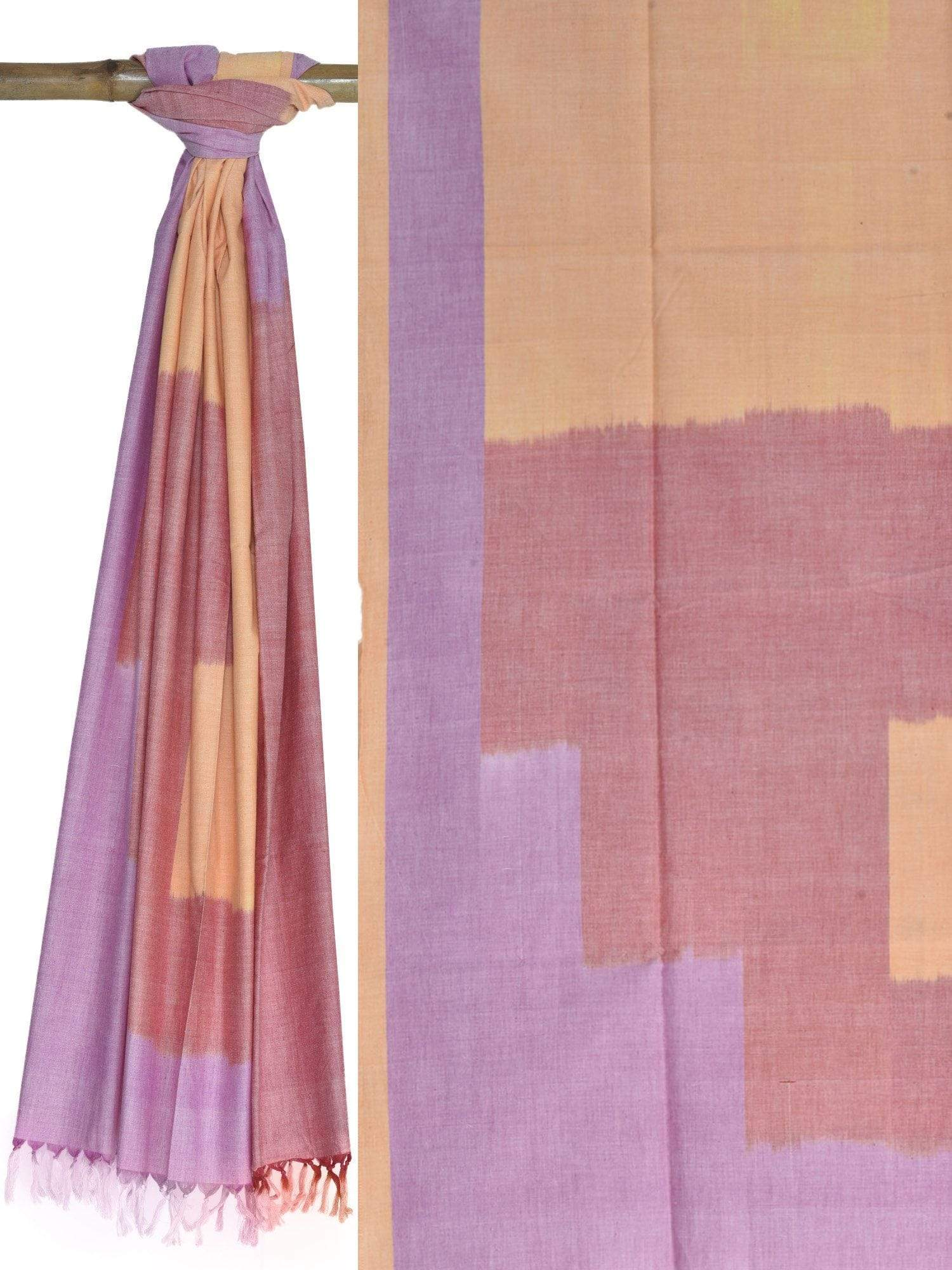 Multicolor Pochampally Ikat Cotton Handloom Dupatta ds1624