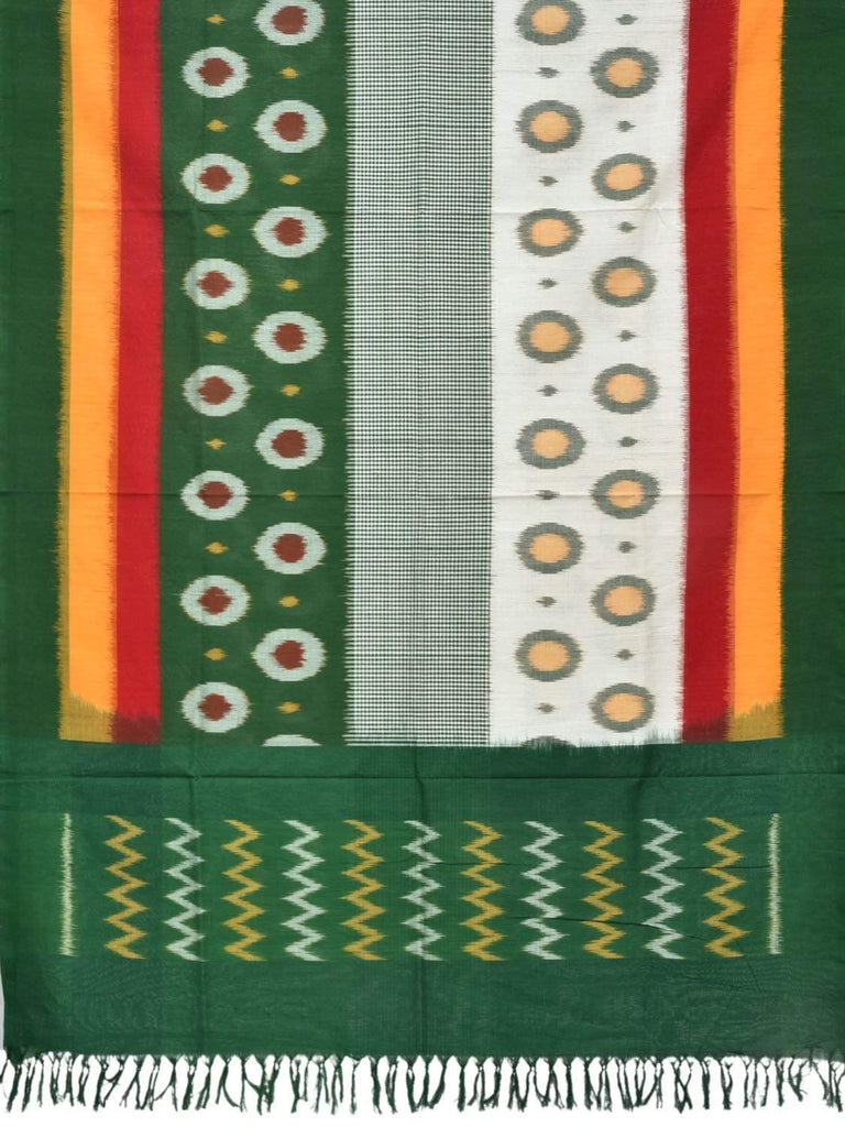 Multicolor Pochampally Ikat Cotton Handloom Dupatta with Polka Dots Design ds1828