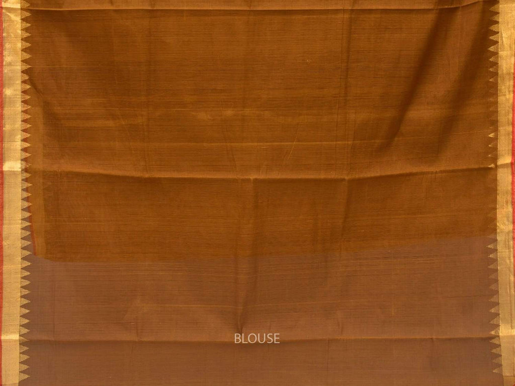 Olive Khadi Cotton Handloom Saree with Pallu Design kh0492