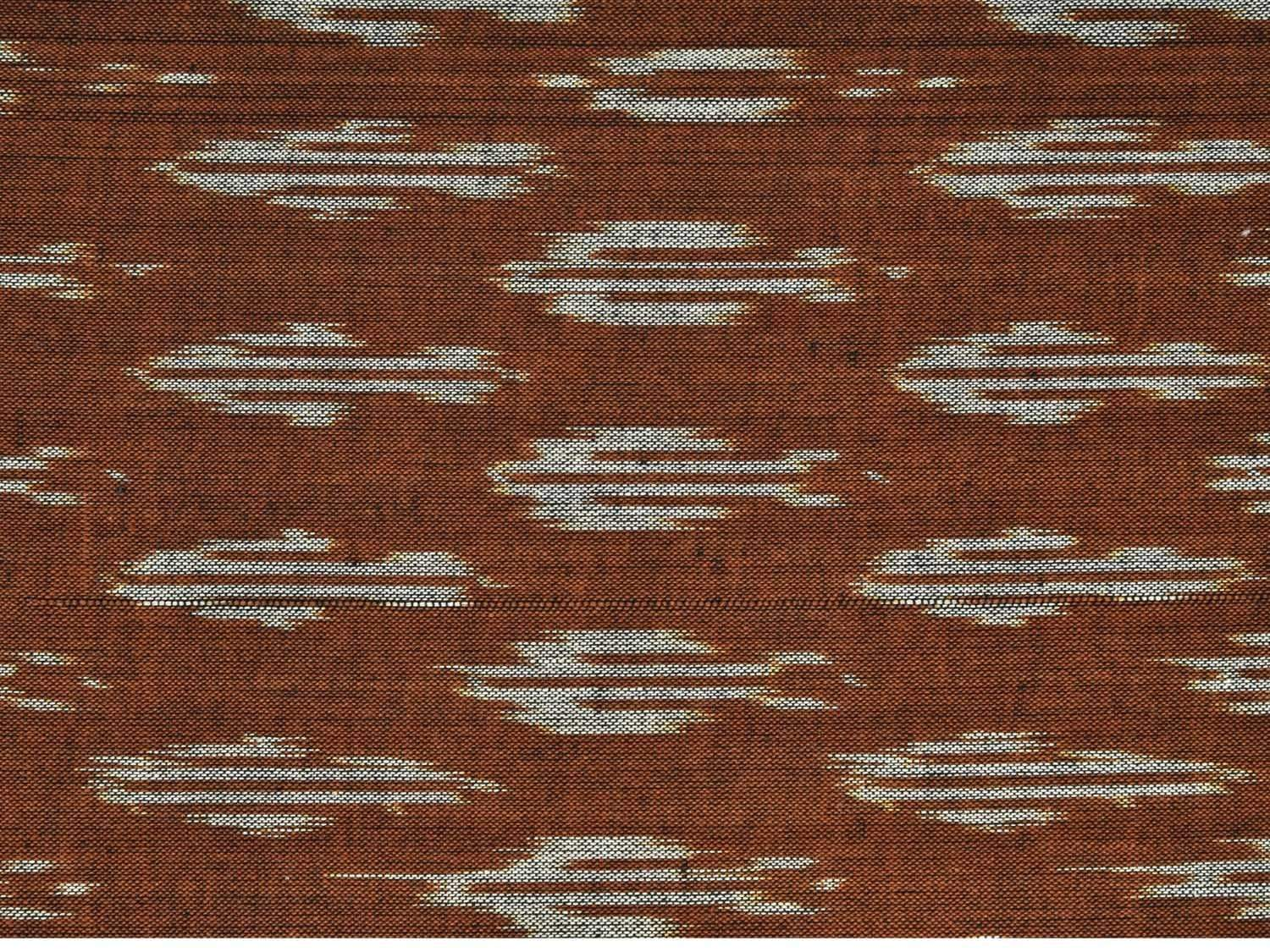 Olive Pochampally Ikat Cotton Handloom Fabric Material with Buta Design f0142