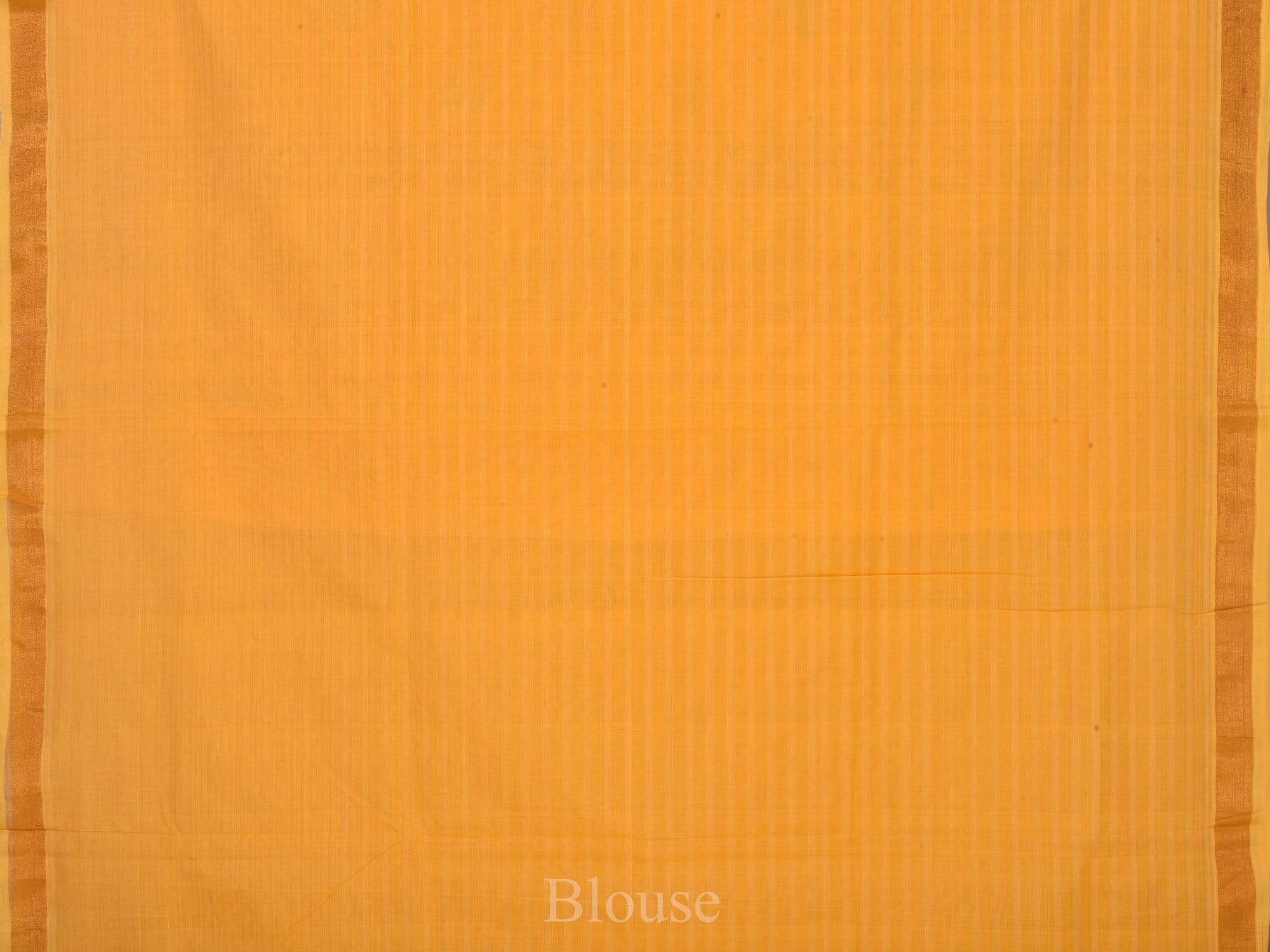 Orange Uppada Cotton Handloom Saree with Pallu Design U1465