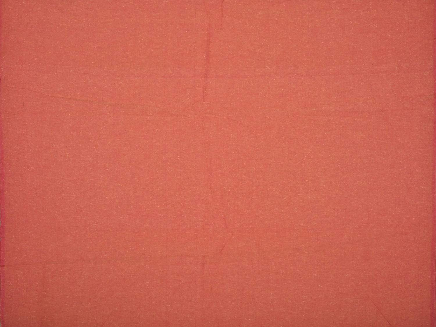 Peach Cotton Handloom Fabric Material with Plain Design f0152