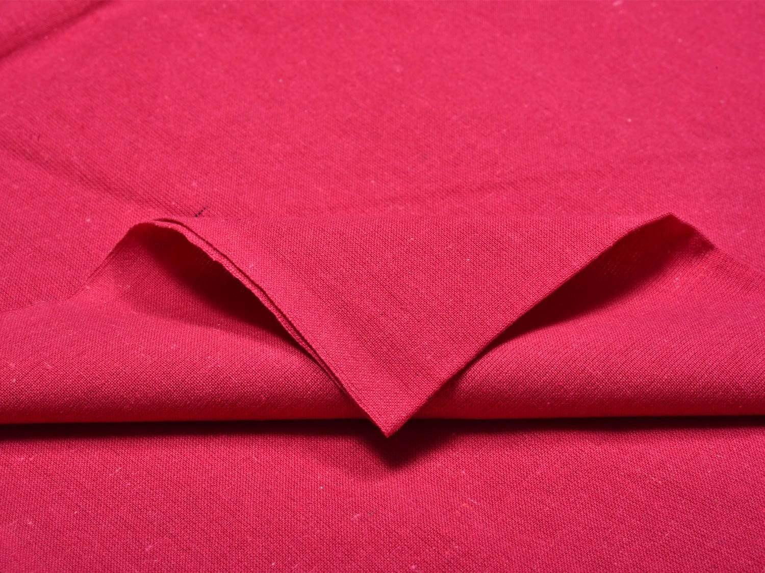 Pink Cotton Handloom Fabric Material with Plain Design f0154
