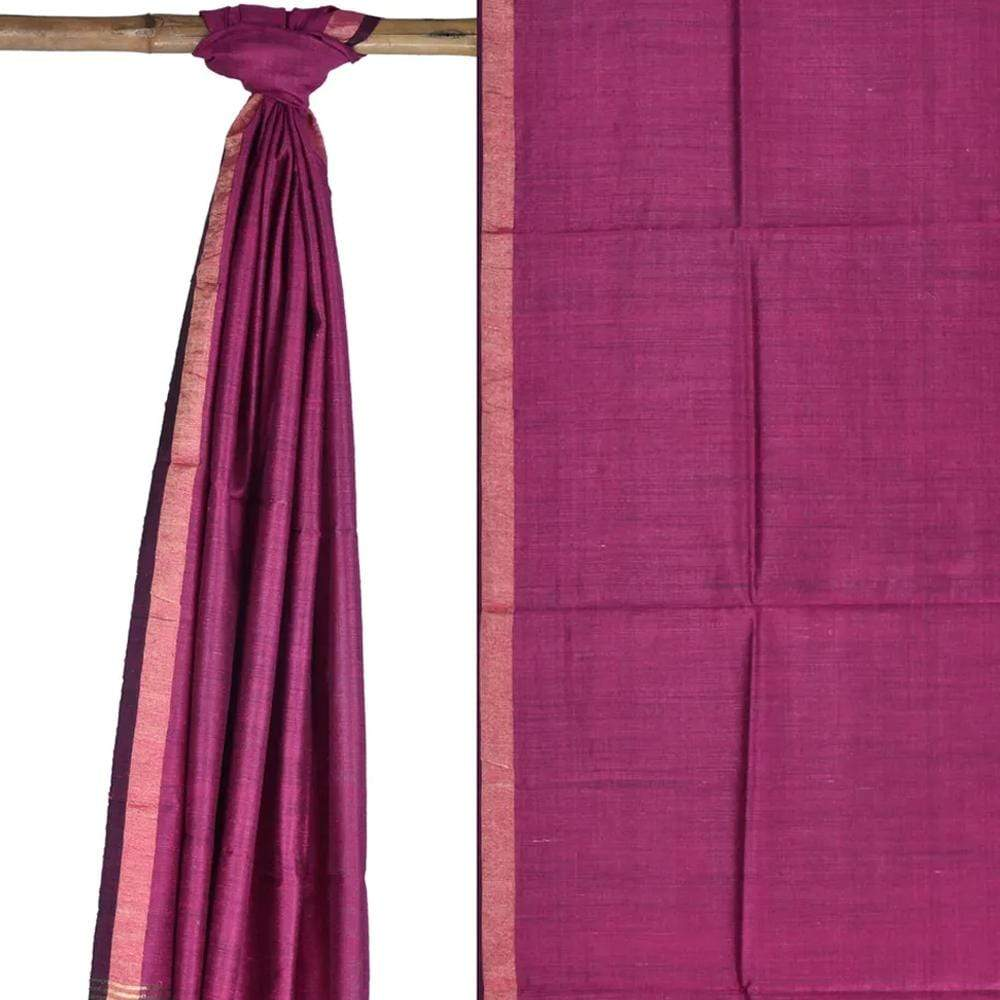 Pink Tussar Handloom Dupatta with Zari Border ds1755
