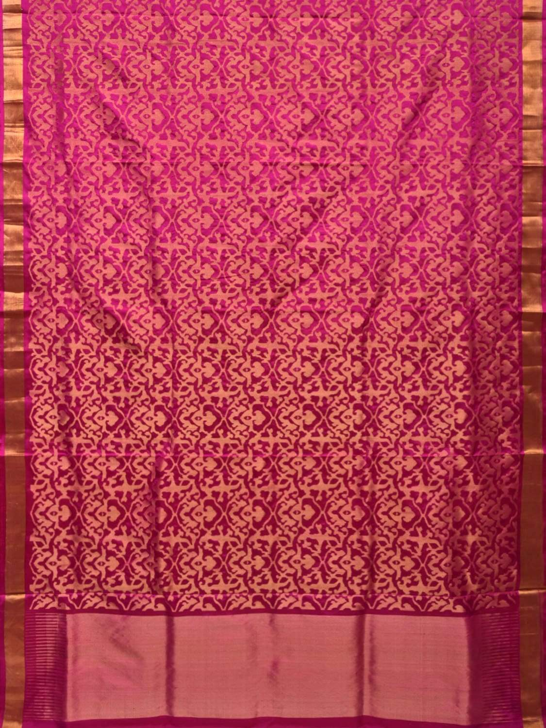 Pink Uppada Silk Handloom Saree with All Over Jangla Design u1649