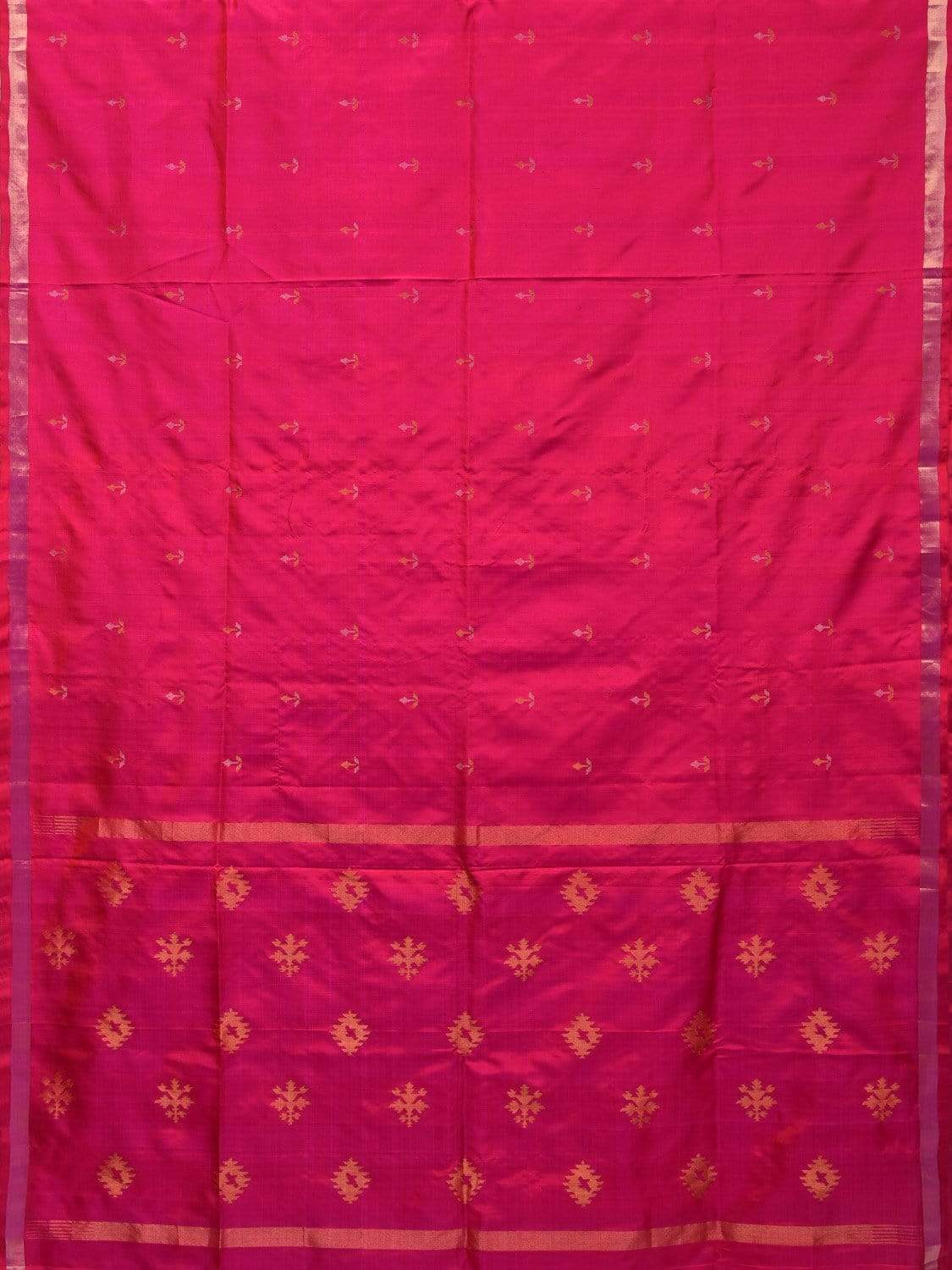 Pink Uppada Silk Handloom Saree with Assorted Buta Pallu Design u1634