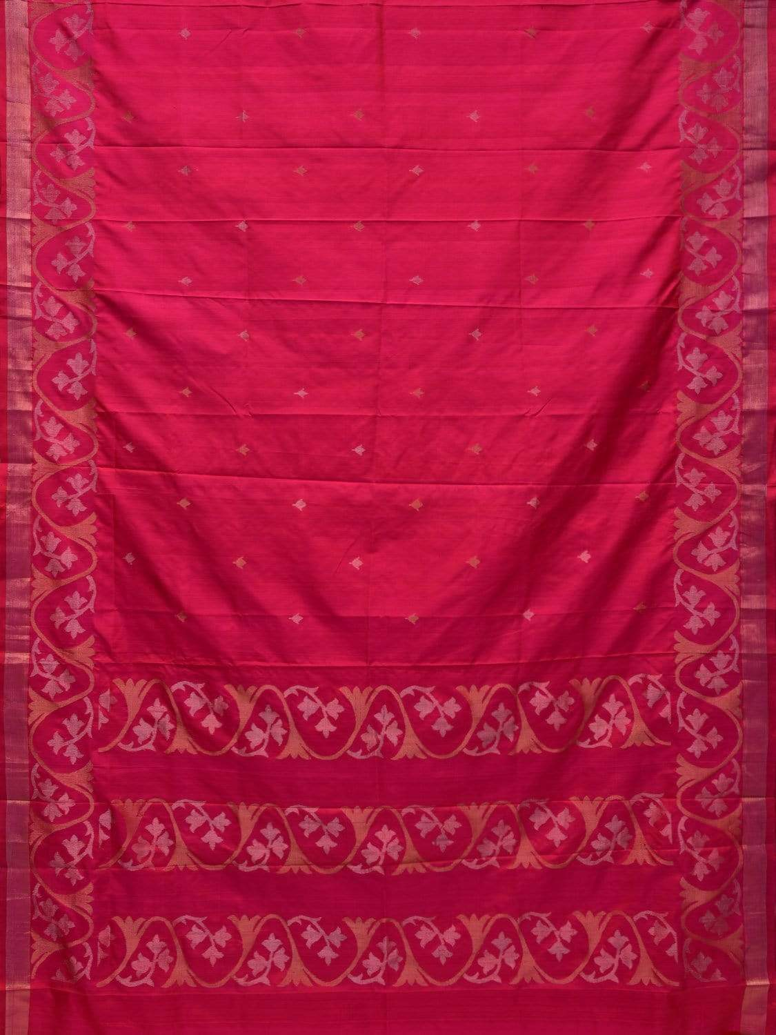 Pink Uppada Silk Handloom Saree with Border Design u1636