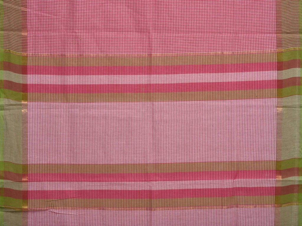 Pink Venkatagiri Cotton Handloom Saree with Small Checks Design v0071