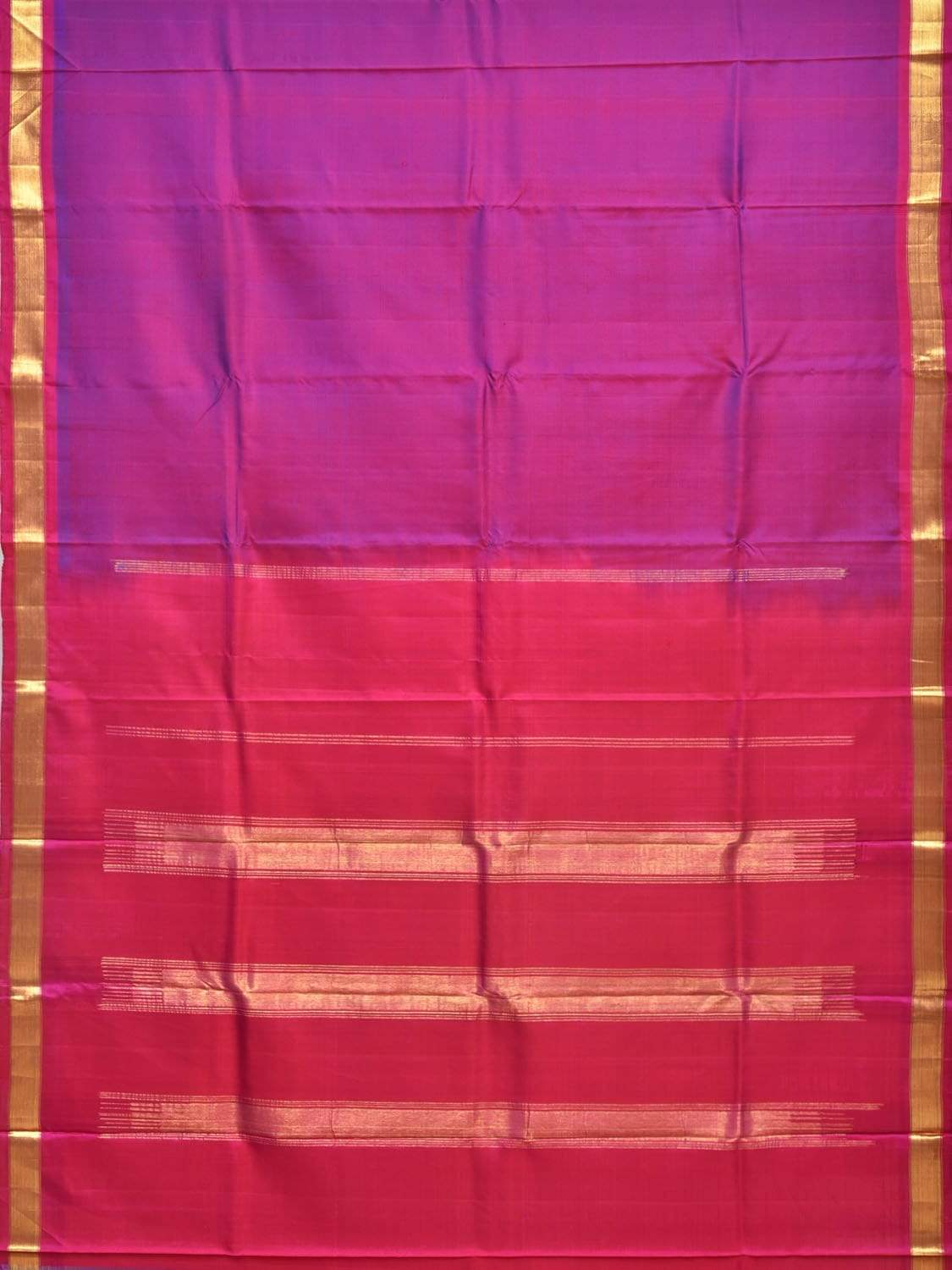 Purple and Pink Gadwal Silk Handloom Saree with Contrast Pallu Design g0246