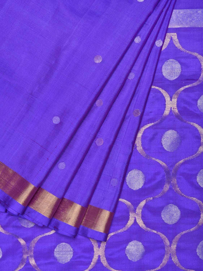 Purple Uppada Silk Handloom Saree with OG Pallu Design U1549
