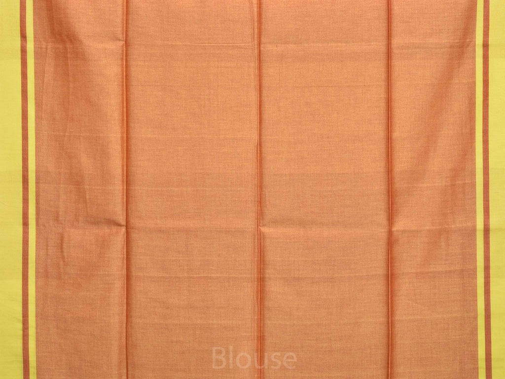 Red Organic Cotton Handloom Plain Saree o0247
