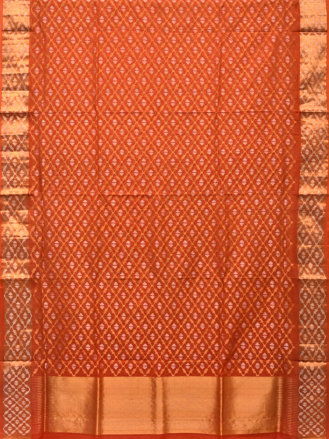 Rust Uppada Cotton Handloom Saree with All Over Jamdani Design u1654