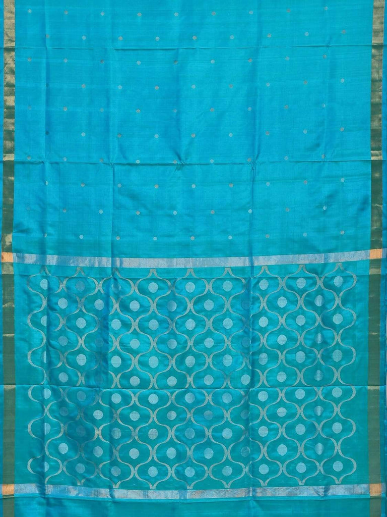 Turquoise Uppada Silk Handloom Saree with OG Pallu Design U1547