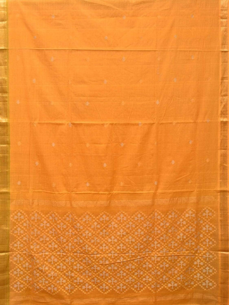 Yellow Uppada Cotton Handloom Saree with Jamdani Pallu Design u1725