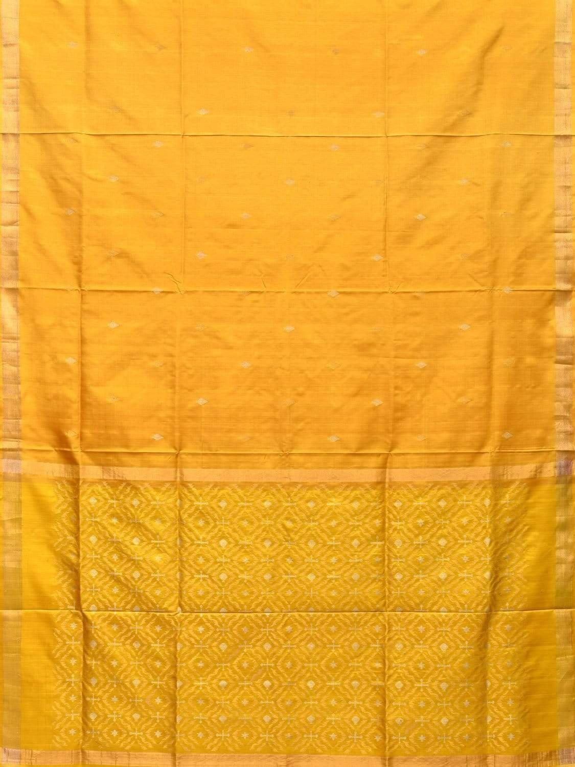Yellow Uppada Silk Handloom Saree with Jamdani Pallu Design u1645