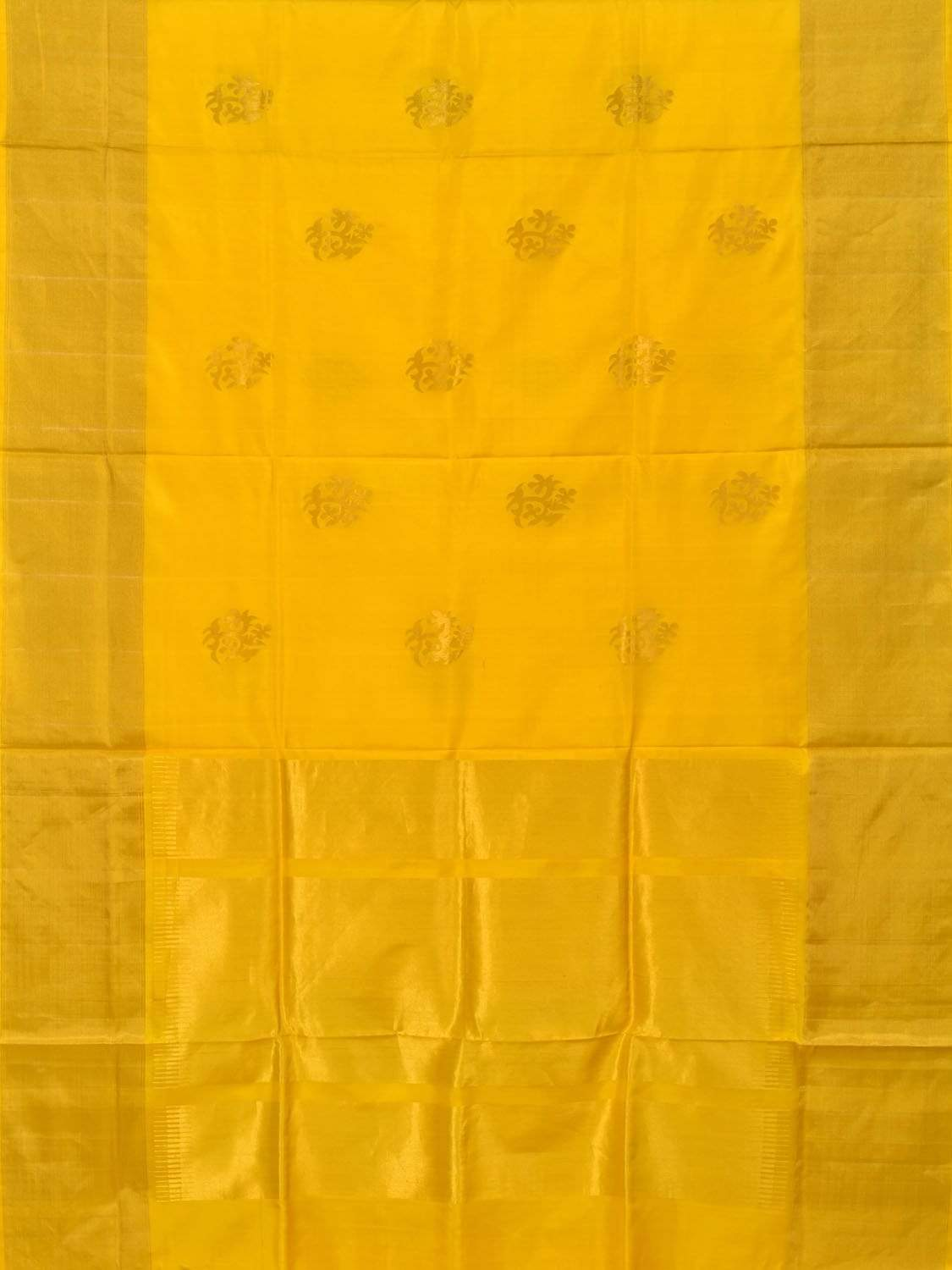 Yellow Uppada Silk Handloom Saree with Nilambari Buta Design u1564