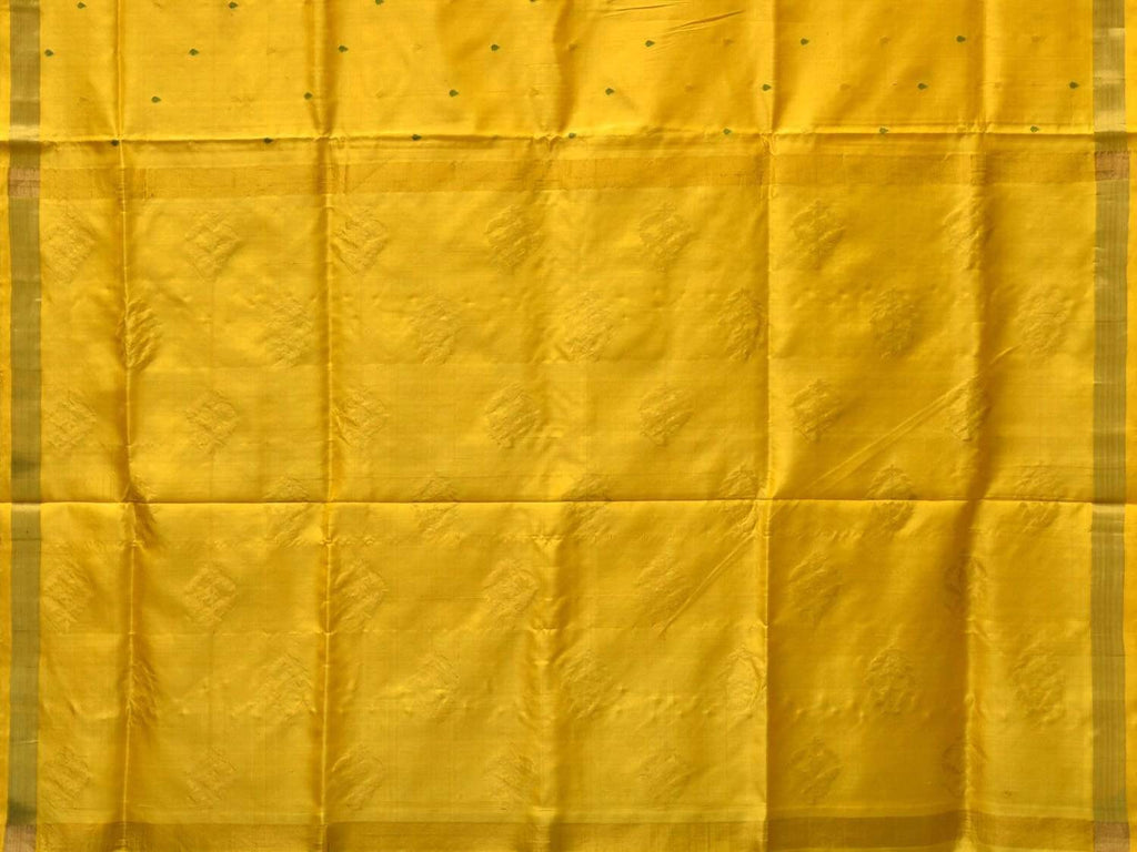 Yellow Uppada Silk Handloom Saree with Small Buta Pallu Design u1711