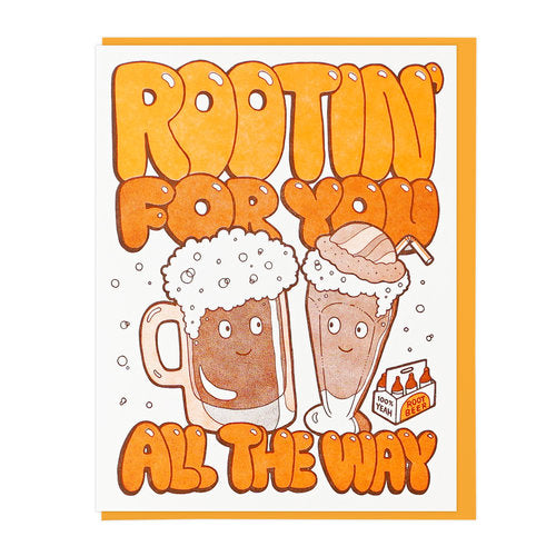 Rootin' For You Encouragement Card