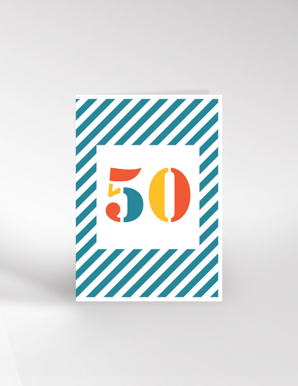 50th Birthday Greeting Card