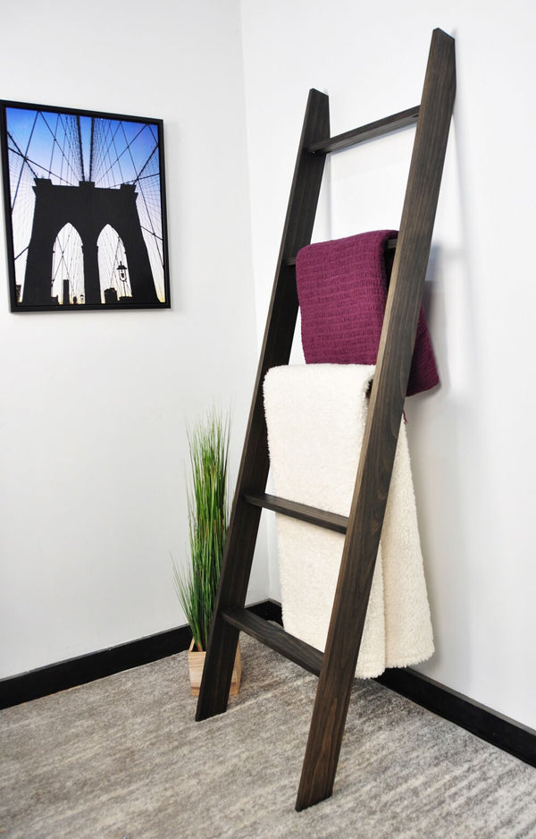 Lucus Ebony Decorative Ladder 20'' x 72''