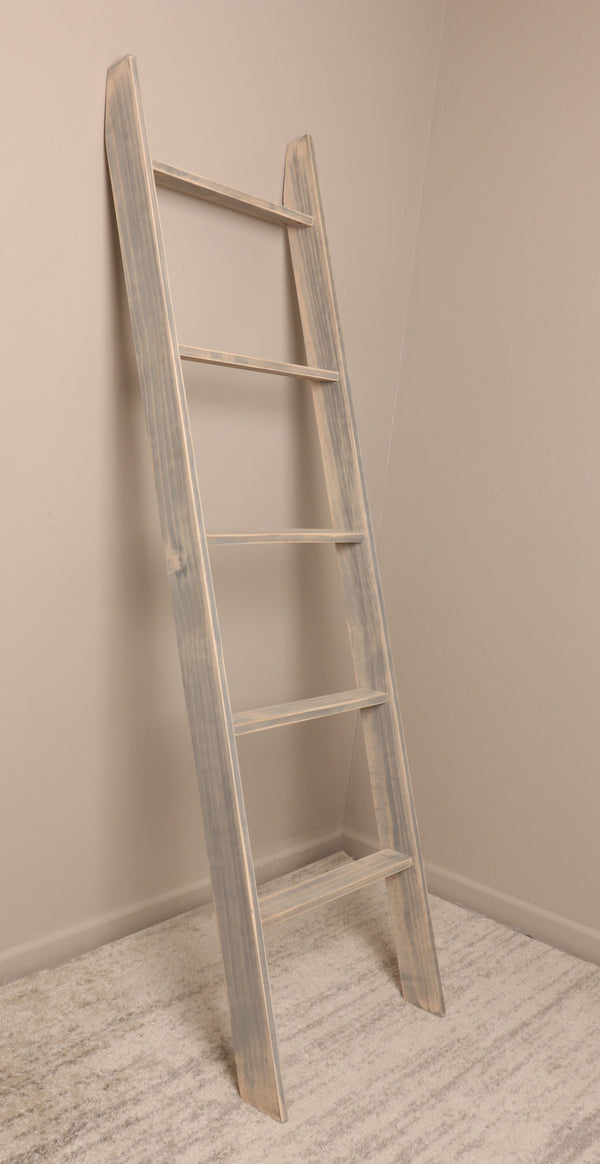 Worn Gray Ladder 20'' x 72''