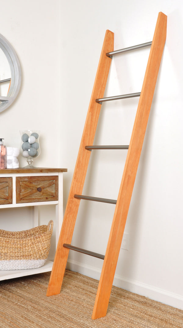 Metal Rung Industrial Modern Blanket Ladder