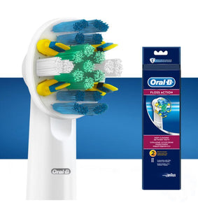 Oral-B FlossAction Replacement Brush Heads – 2 pack EB25-2 - Get a Cut NZ