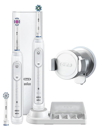 Oral-B GENIUS 8000 Dual Handle Electric Rechargeable Toothbrush G8000DH - Get a Cut NZ