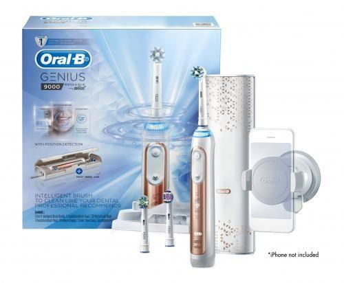 Oral-B GENIUS 9000 Rose Gold Electric Rechargeable Toothbrush G9000RG - Get a Cut NZ